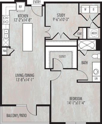 1 Bedroom 1 Bathroom Apartment for rent at Dwell At Legacy in San Antonio, TX