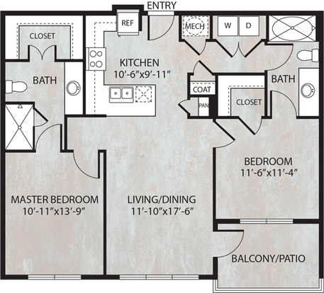 2 Bedrooms 2 Bathrooms Apartment for rent at Dwell At Legacy in San Antonio, TX