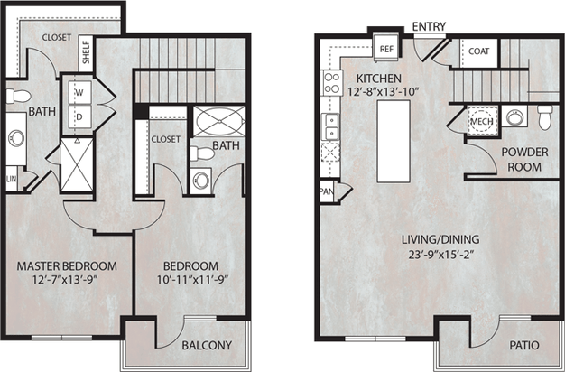 2 Bedrooms 3 Bathrooms Apartment for rent at Dwell At Legacy in San Antonio, TX