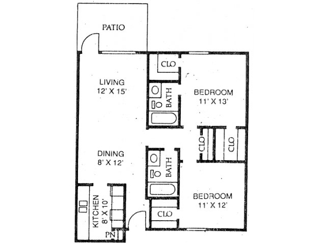 2 Bedrooms 2 Bathrooms Apartment for rent at Stone Ridge in Arlington, TX