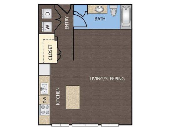 Studio 1 Bathroom Apartment for rent at 1111 Austin Highway Apartments in San Antonio, TX