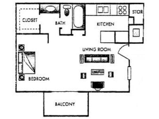 Studio 1 Bathroom Apartment for rent at Fairways V Apartments in San Antonio, TX