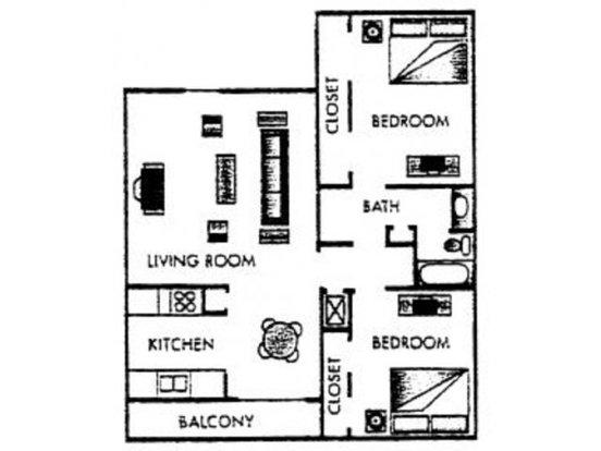 2 Bedrooms 1 Bathroom Apartment for rent at Fairways V Apartments in San Antonio, TX