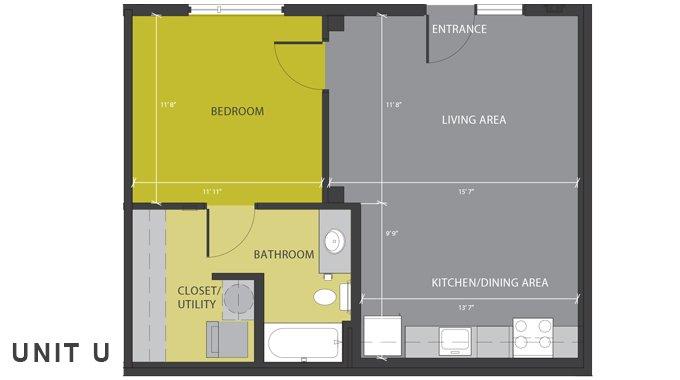 1 Bedroom 1 Bathroom Apartment for rent at 1221 Broadway in San Antonio, TX