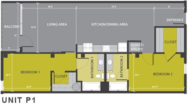 2 Bedrooms 2 Bathrooms Apartment for rent at 1221 Broadway in San Antonio, TX