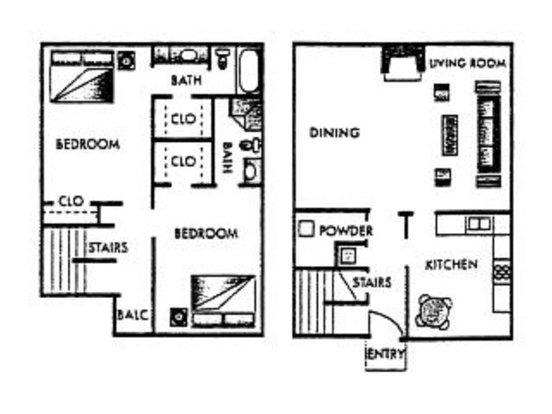 2 Bedrooms 2 Bathrooms Apartment for rent at Fairways V Apartments in San Antonio, TX
