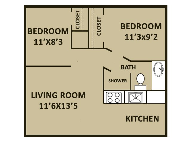 2 Bedrooms 1 Bathroom Apartment for rent at Covina Plaza Apartments in San Antonio, TX