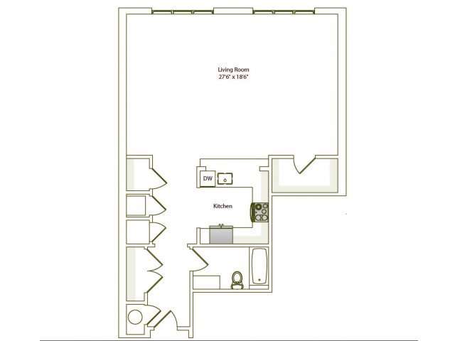 Studio 1 Bathroom Apartment for rent at Eilan in San Antonio, TX