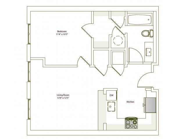 1 Bedroom 1 Bathroom Apartment for rent at Eilan in San Antonio, TX