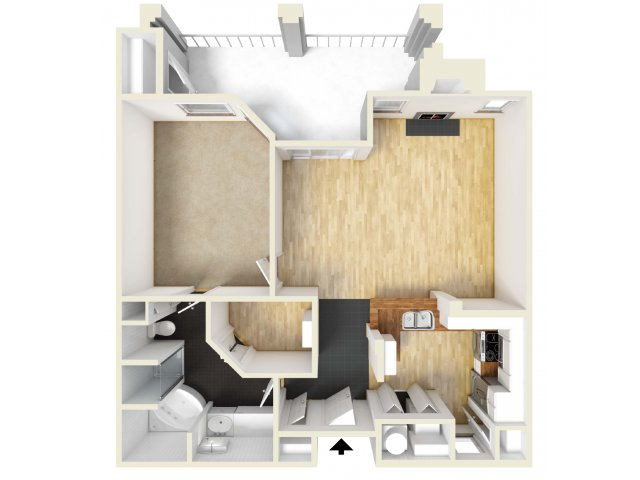 1 Bedroom 1 Bathroom Apartment for rent at Meridian in San Antonio, TX