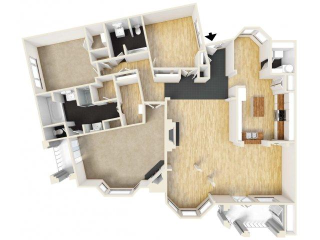 3 Bedrooms 2 Bathrooms Apartment for rent at Meridian in San Antonio, TX