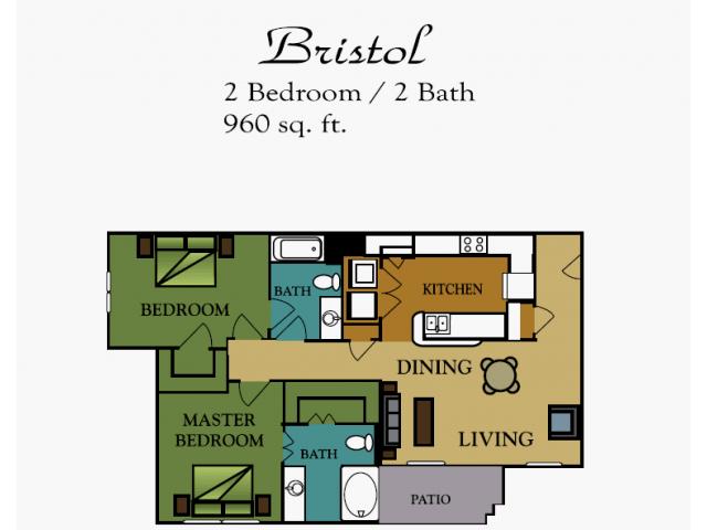 2 Bedrooms 2 Bathrooms Apartment for rent at Rush Creek in Arlington, TX