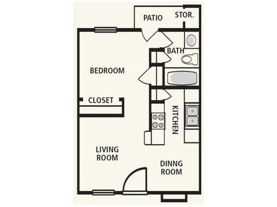 1 Bedroom 1 Bathroom Apartment for rent at Villa De Oro in San Antonio, TX