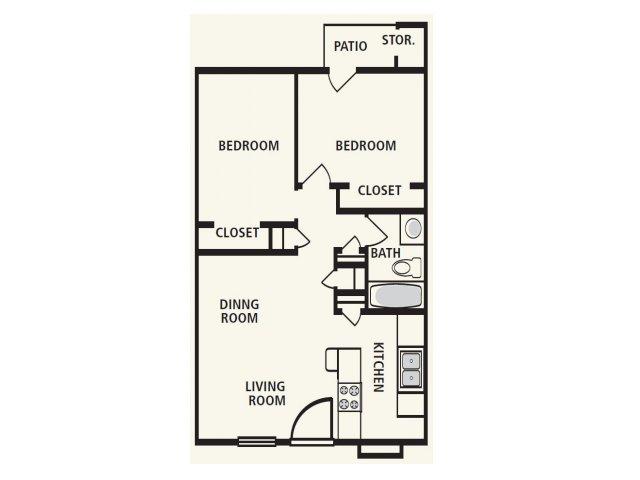 2 Bedrooms 1 Bathroom Apartment for rent at Villa De Oro in San Antonio, TX