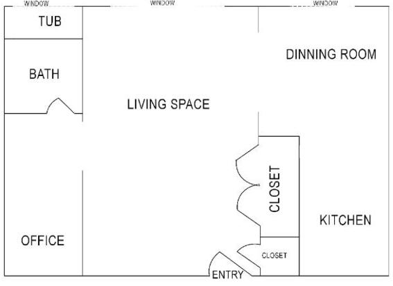 Studio 1 Bathroom Apartment for rent at College Manor in East Lansing, MI