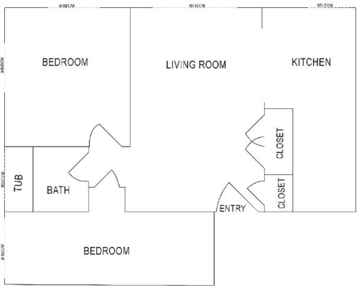 2 Bedrooms 1 Bathroom Apartment for rent at College Manor in East Lansing, MI