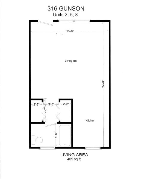 1 Bedroom 1 Bathroom Apartment for rent at Gunson Studio Apartments in East Lansing, MI