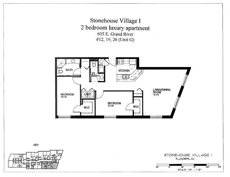 2 Bedrooms 2 Bathrooms Apartment for rent at Stonehouse Village in East Lansing, MI