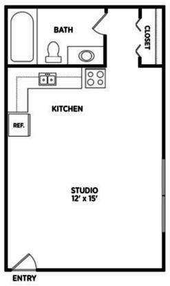 Studio 1 Bathroom Apartment for rent at North Pointe Apartments in East Lansing, MI