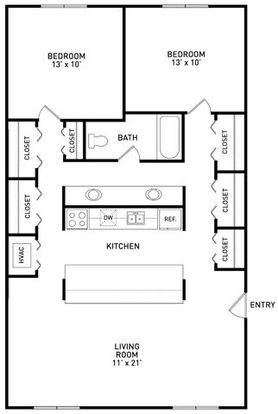 2 Bedrooms 1 Bathroom Apartment for rent at Campus Hill Apartments in Okemos, MI