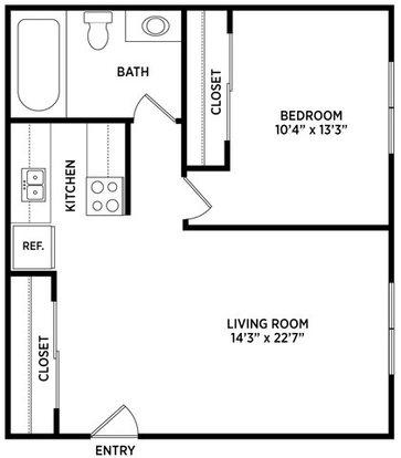 1 Bedroom 1 Bathroom Apartment for rent at Stoneridge Apartments in East Lansing, MI