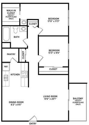 2 Bedrooms 1 Bathroom Apartment for rent at Stoneridge Apartments in East Lansing, MI