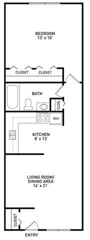 1 Bedroom 1 Bathroom Apartment for rent at Okemos Village Apartments in Okemos, MI