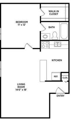 1 Bedroom 1 Bathroom Apartment for rent at Mason Hills Apartments in Mason, MI