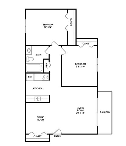 2 Bedrooms 1 Bathroom Apartment for rent at Countryway East Apartments in Okemos, MI