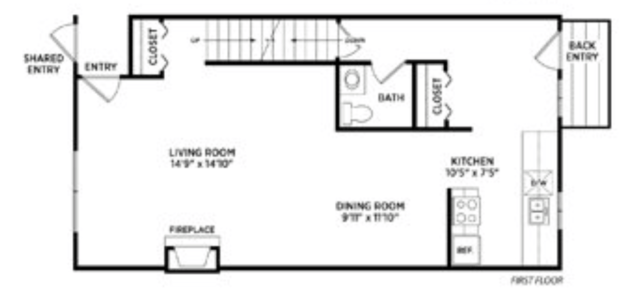 3 Bedrooms 1 Bathroom Apartment for rent at Spartan Duplexes Ii in East Lansing, MI
