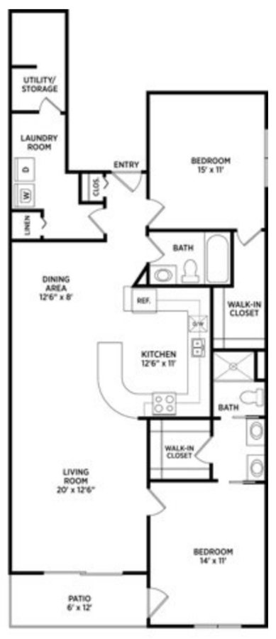 2 Bedrooms 2 Bathrooms Apartment for rent at The Linden in East Lansing, MI