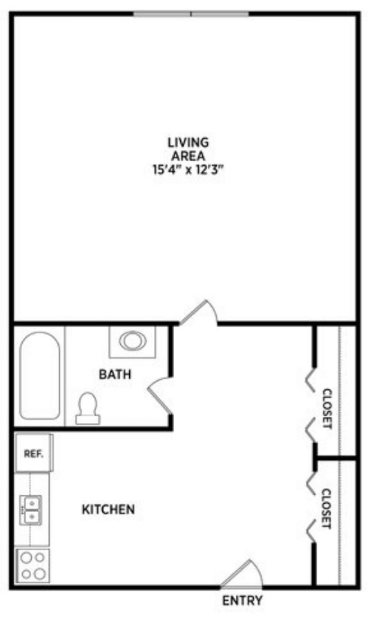 Studio 1 Bathroom Apartment for rent at Burcham Woods Apartments in East Lansing, MI