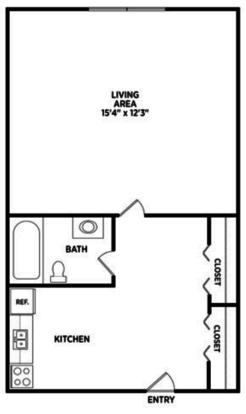 Studio 1 Bathroom Apartment for rent at Burcham Woods Apartments in East Lansing, MI