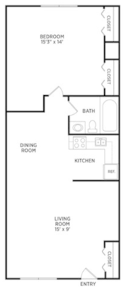 1 Bedroom 1 Bathroom Apartment for rent at Burcham Woods Apartments in East Lansing, MI