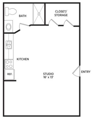 Studio 1 Bathroom Apartment for rent at Auburn Place Apartments in East Lansing, MI