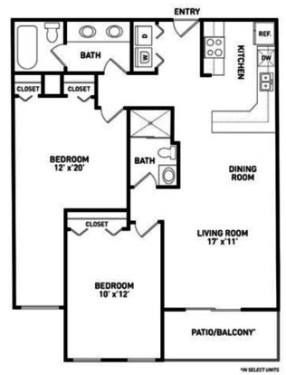 2 Bedrooms 2 Bathrooms Apartment for rent at Americana Apartments in East Lansing, MI