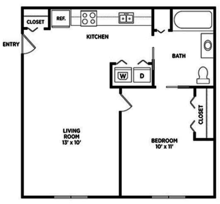 1 Bedroom 1 Bathroom Apartment for rent at Cedar Greens Apartments in East Lansing, MI