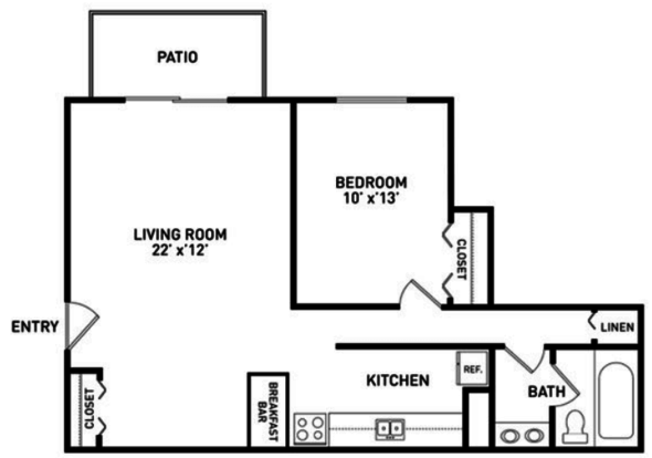 1 Bedroom 1 Bathroom Apartment for rent at Cedar Village Apartments in East Lansing, MI
