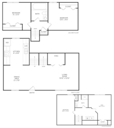 3 Bedrooms 1 Bathroom Apartment for rent at Spartan Duplexes in East Lansing, MI