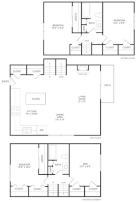 3 Bedrooms 2 Bathrooms Apartment for rent at Spartan Duplexes in East Lansing, MI