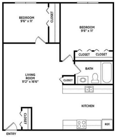 2 Bedrooms 1 Bathroom Apartment for rent at 144 Highland Apartments in East Lansing, MI