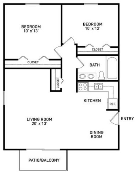 2 Bedrooms 1 Bathroom Apartment for rent at Albert Apartments in East Lansing, MI