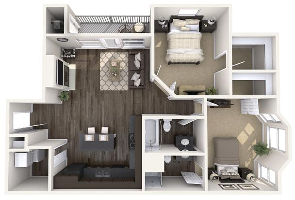 2 Bedrooms 2 Bathrooms Apartment for rent at Pine Lane Estates in Lansing, MI