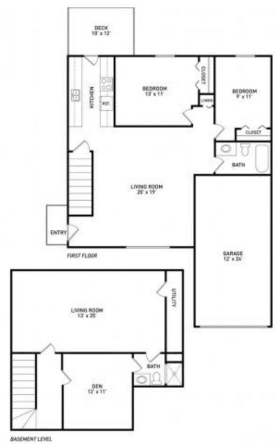 2 Bedrooms 2 Bathrooms Apartment for rent at Kindlund Duplexes in Dewitt, MI