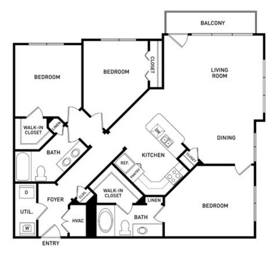 3 Bedrooms 2 Bathrooms Apartment for rent at The Vista At The Heights in Lansing, MI