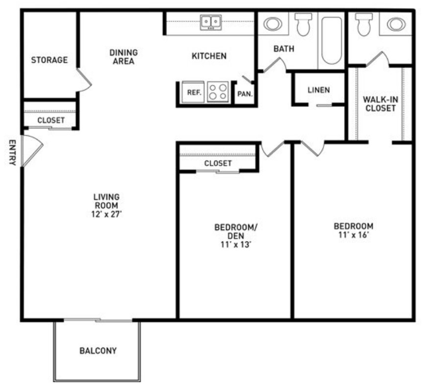 2 Bedrooms 1 Bathroom Apartment for rent at Knob Hill Apartments in Okemos, MI