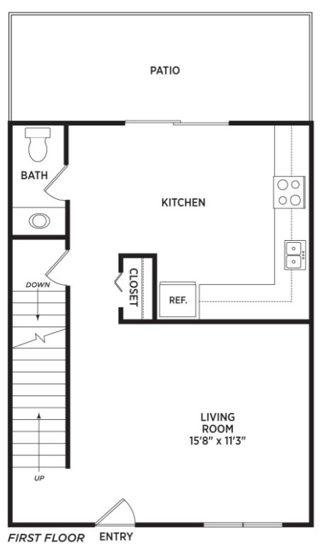 2 Bedrooms 1 Bathroom Apartment for rent at Oakbrook Townhomes in Lansing, MI