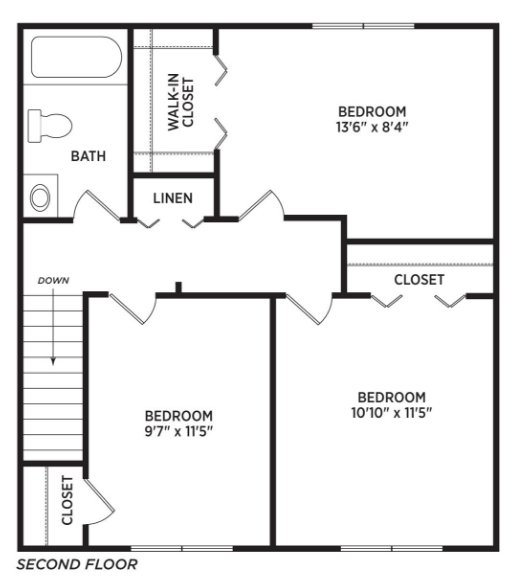 3 Bedrooms 1 Bathroom Apartment for rent at Oakbrook Townhomes in Lansing, MI