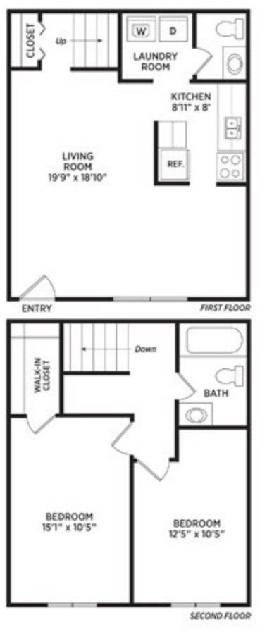 2 Bedrooms 1 Bathroom Apartment for rent at Olde Farm Apartments in East Lansing, MI