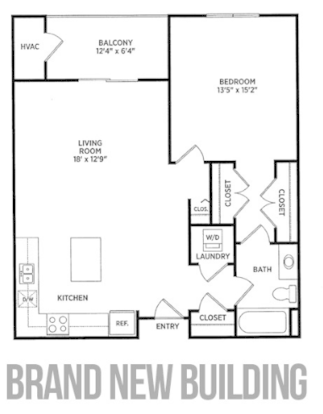 1 Bedroom 1 Bathroom Apartment for rent at Verndale Apartments in Lansing, MI